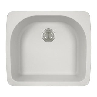 MR Direct TruGranite T824-White D-bowl Top-mount Sink
