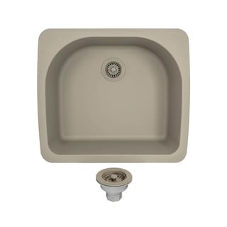 MR Direct T824-Slate TruGranite D-Bowl Top-mount Sink