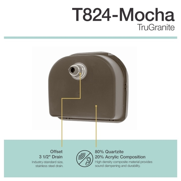 MR Direct T824 Mocha TruGranite D Bowl Top Mount Sink   Free Shipping Today    Overstock.com   22960829