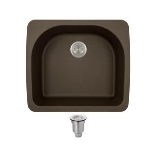 MR Direct T824-Mocha TruGranite D-bowl Top-mount Sink