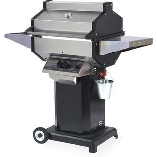 Phoenix SDBOCP - Stainless Steel Propane Gas Grill Head On Black Aluminum Pedestal Cart
