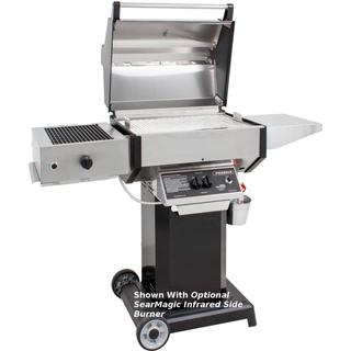 Phoenix SDBOCN - Stainless Steel Natural Gas Grill Head On Black Aluminum Pedestal Cart