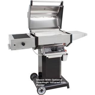 Phoenix SDBOCN - Stainless Steel Natural Gas Grill Head On Black Aluminum Pedestal Cart