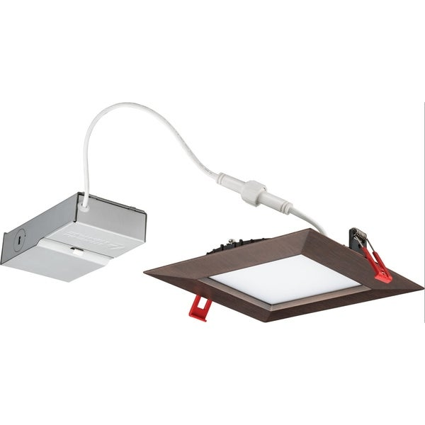 Lithonia Lighting 14w Ultra Thin 6 Square Dimmable Recessed Ceiling Light 4000k Bronze