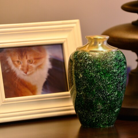 High Gloss Pet Urn, Green - Small