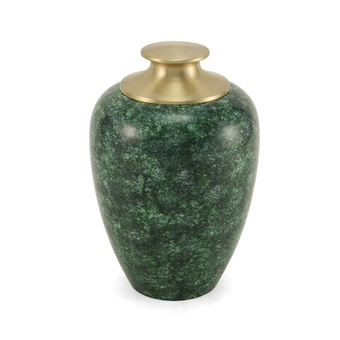 High Gloss Pet Urn, Green - Large