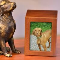 Photo Frame Pet Urn, Honeynut - Small