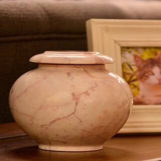 Desert Sand Marble Pet Urn - Medium