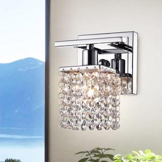 Ivana Chrome and Crystal Mini Wall Sconce