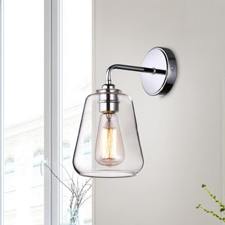 Anastasia Chrome Finish Wall Sconce with Clear Glass Shade