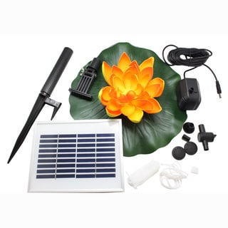 ASC Solar Powered Water Floating Lotus Fountain with Water Pump