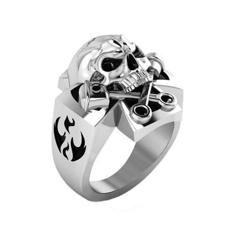 Sterling Silver Evil Eye Skull Ring