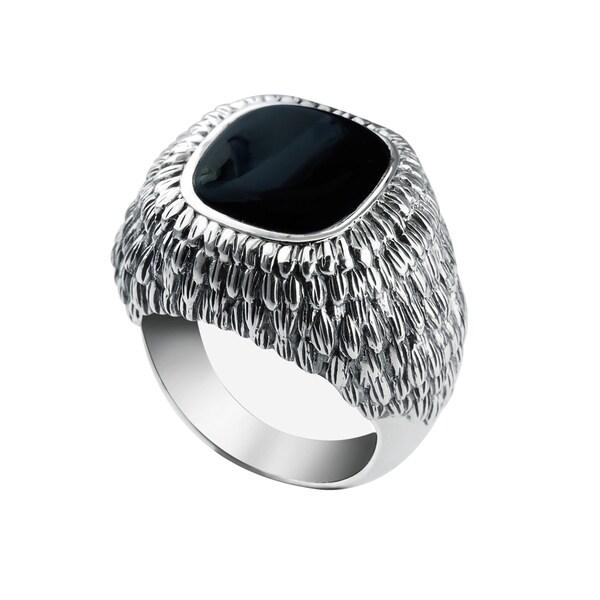 5b0762116 ... Men's Jewelry; /; Men's Rings. Men's Sterling Silver Black Onyx  Ring