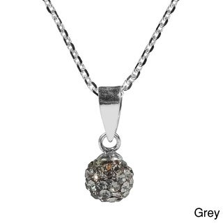 Handmade 6mm Cute Crystal Disco Ball .925 Silver Necklace (Thailand)