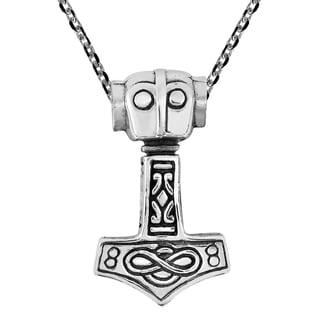 Handmade Thors Hammer Mjolnir 925 Sterling Silver Necklace Thailand