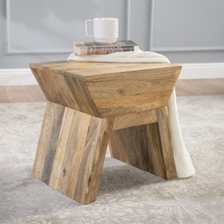 Robyn Mango Wood Stool by Christopher Knight Home