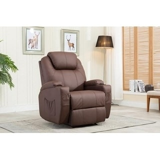 Mcombo Recliner Media Armchair Loung Chair w/Cup Holder