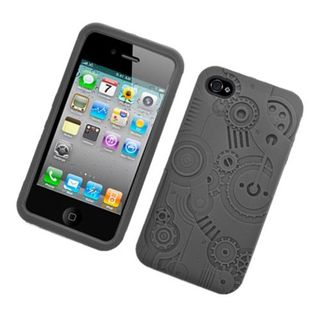 Insten 3D Silicone Skin Gel Rubber Case Cover For Apple iPhone 4/ 4S
