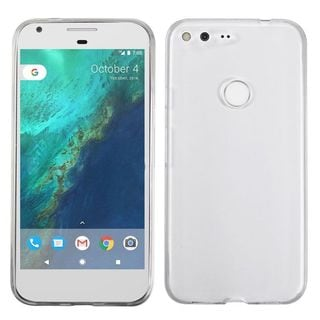 Insten Clear TPU Rubber Candy Skin Glossy Case Cover For Google Pixel