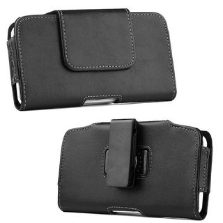 Insten Black Leatherette Case Cover with Belt Clip For Samsung Galaxy Note