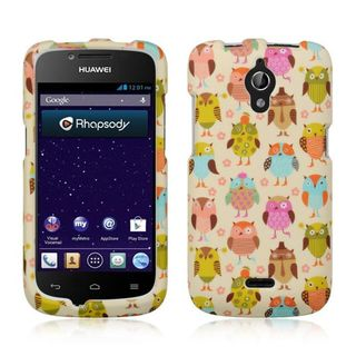 Insten Colorful Owl Hard Snap-on Rubberized Matte Case Cover For Huawei Vitria H882L