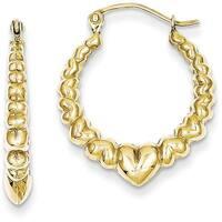 10 Karat Polished Hollow Classic Earrings