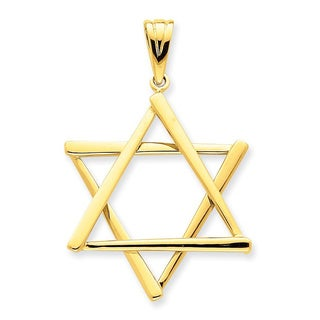 14 Karat Star of David Pendant with 18-inch chain