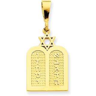14 Karat Polished Torah with Star of David Charm with 18-inch chain