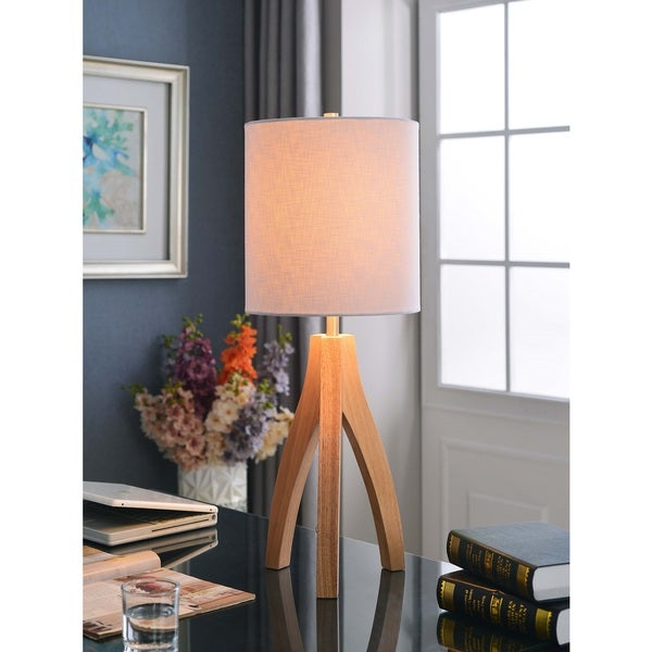 Design Craft Nicole Natural Wood Grain Finish Table Lamp