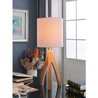 Design Craft Nicole Natural Wood Grain Finish Table Lamp