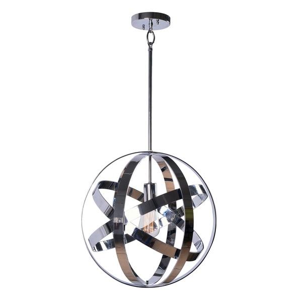 Design Craft Encompass Chrome 1-Light Pendant