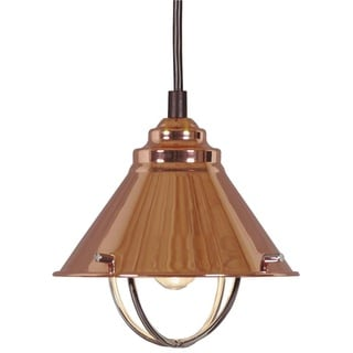 Design Craft Seaport Copper 1-Light Mini Pendant
