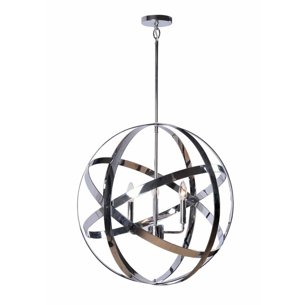 Design Craft Encompass Chrome 3-Light Chandelier