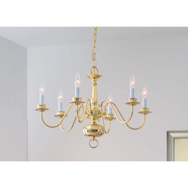 Design Craft Hayden Polished Brass 6-Light Chandelier