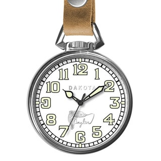 Dakota Men's Angler Pocket Watch with Leather Retainer