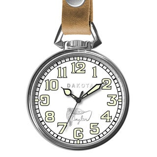 Dakota Men's Angler Pocket Watch with Leather Retainer (3 options available)
