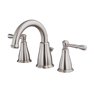 Danze Eastham 2H Brushed Nickel Widespread Lavatory Faucet with 50/50 Pop-up Drain 1.2 Gallons Per Minute