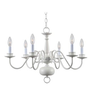 Design Craft Hayden White 6-Light Chandelier
