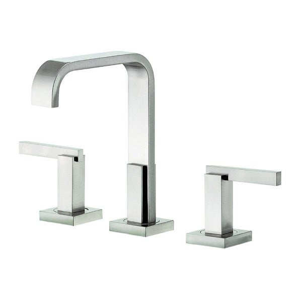 Danze Sirius Trim Line 2H Brushed Nickel 1.2gpm Mini-widespread Lavatory Faucet with Metal Touch Down Drain