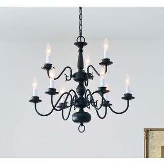 Design Craft Hayden Black 9-Light Chandelier