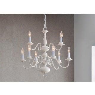 Design Craft Hayden White 9-Light Chandelier