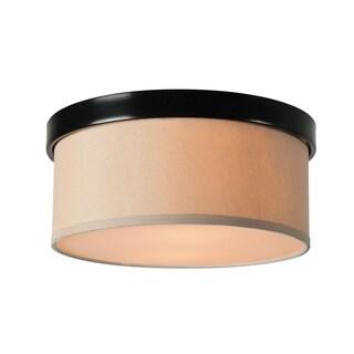 Design Craft Olivia Blackened Oil Rubbed Bronze 2-Light Flush Mount