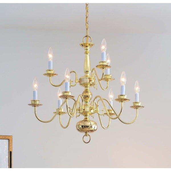 Design Craft Hayden Polished Brass 9-Light Chandelier