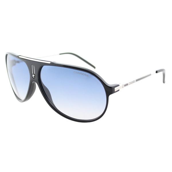 425af9bd60a94 Carrera Hot S CSA 1P Black Palladium Plastic Aviator Sunglasses Azure Blue  Gradient Lens