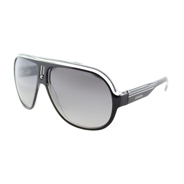 b646e049ff9 Carrera CA Speedway S KE4 Black Crystal Silver Plastic Aviator Sunglasses  Grey Mirror Shaded Silver