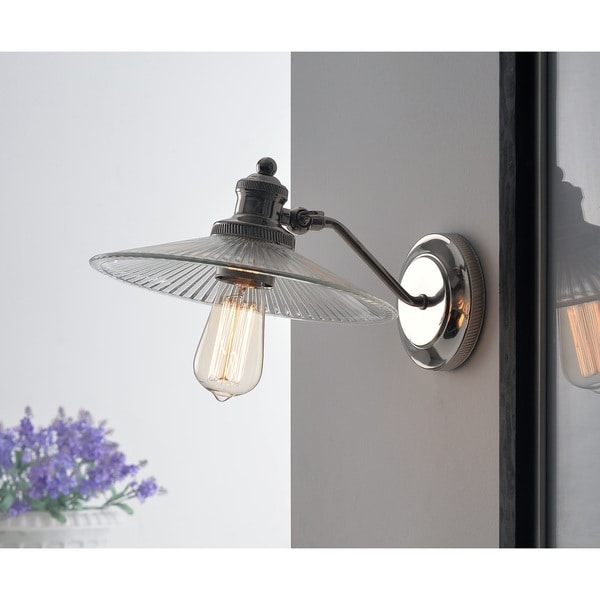 Design Craft Heritage Polished Nickel 1-Light Sconce