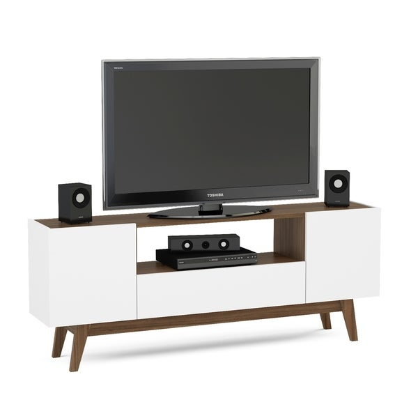 shop boahaus white and brown wood 60 inch tv stand on sale free shipping today overstock. Black Bedroom Furniture Sets. Home Design Ideas
