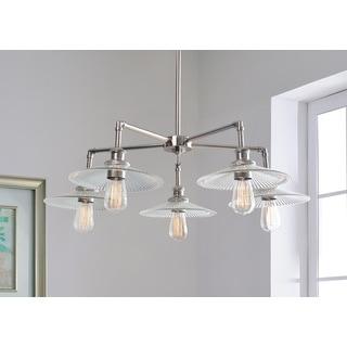 Design Craft Heritage Polished Nickel 5-Light Chandelier