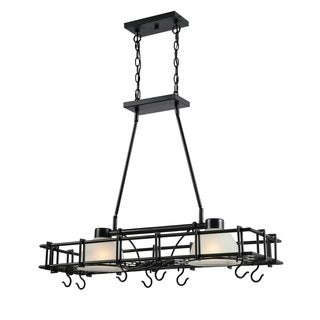 Design Craft Santiago Oil Rubbed Bronze 2-Light Pot Rack