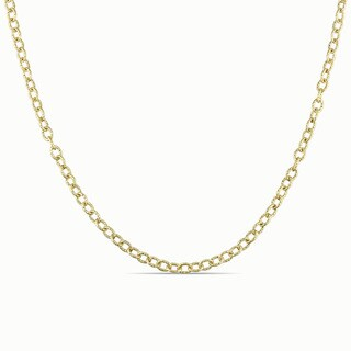 Miadora Signature Collection 18k Yellow Gold Rolo Link Necklace